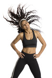Fototapety fitness instructor in motion