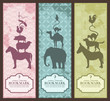 animal pyramid bookmarks or banners