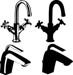 Old and modern faucets