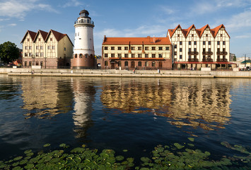 Kaliningrad. Koenigsberg. Old Europe city reconstruction