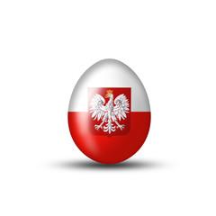 Ei mit polnischem Adler und Wappen