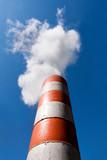 Industrial fume exhaust smokestack poster