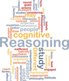 Cognitive reasoning background concept poster