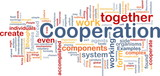 Cooperation management background concept poster