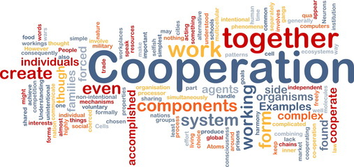 Cooperation management background concept