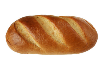 Loaf of bread isolated in white background