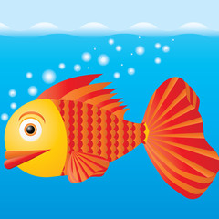 Fish in the water, vector illustration