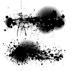 grunge ink splat pair