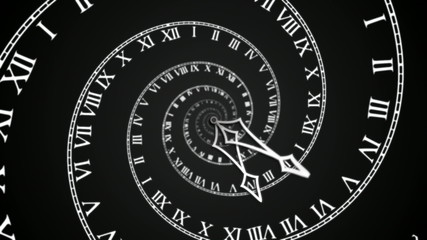 Black Spiral Clock loop (HD)