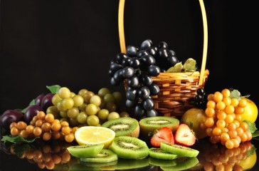 arrangement of fruits