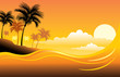 Tropical sunset seascape