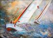 Leinwandbild Motiv Sea regatta
