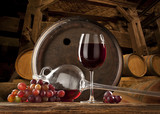 the still life with glass of red wine - Fine Art prints