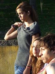 grupo de amigos no parque