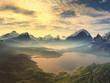 Morning Mist on Tranquil Lake