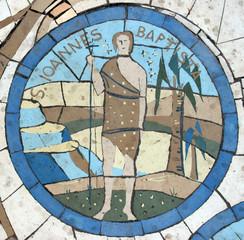 Saint John the Baptist, mosaic, Mount of Beatitudes