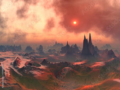 Leinwandbild Motiv Long Forgotten Alien World