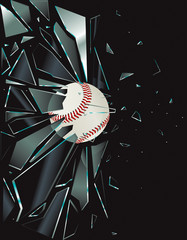 Broken Glass Baseball