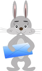 Rabbit with letter