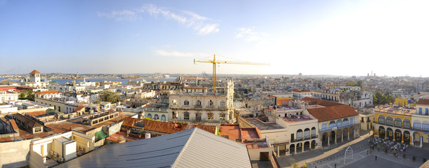 Panoramic view from Old Havana skyline