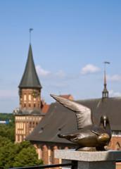 Kaliningrad. Koenigsberg. Cathedral. Bronze gull