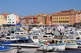 Colourful Croatian Marina poster