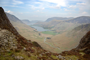 Buttermere from Haystacks path