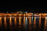 Croatian marina at night poster