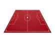 Soccer Pitch 3D red - Fußballplatz 3D rot freigestellt