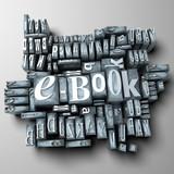 e-book in typescript letters poster