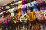 Turkey, Istanbul, Grand Bazaar (Kapalicarsi), silk scarfs poster