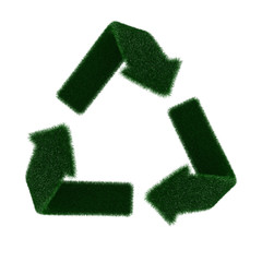 Recycling symbol from fur