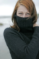 Woman in turtleneck