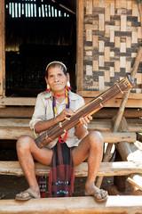 Portrait alter Mann Lawae, Laos