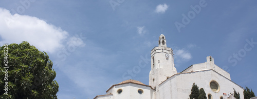 Cadaques, church, the mediterranean village of Salvador Dali