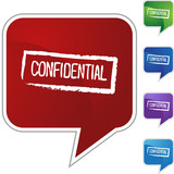 Confidential Ink Stamp poster