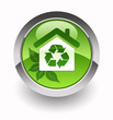 ''Recycling House'' glossy icon