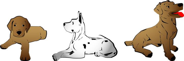 Cani stilizzati