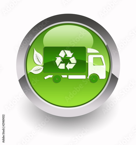 ''Eco transport'' glossy icon