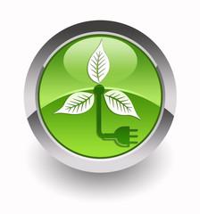 ''Wind turbine'' glossy icon