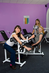 girls in the fitness room