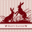 antique easter background (vector)