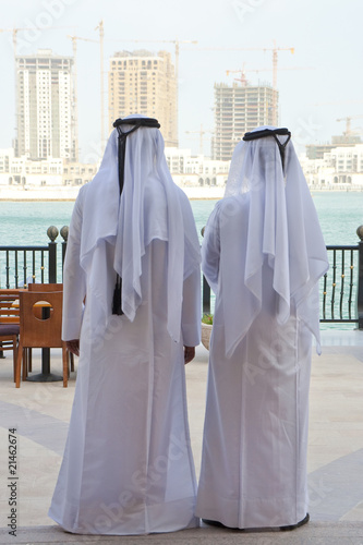Two Anonymous Arab Men Looking At Construction of New Buidings