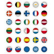 icons Flags of The All Member states of the EU , EU flag. UN and