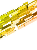 3d ingots with glossy light effects, gold bars poster