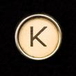 Typewriter letter K