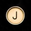 Typewriter letter J
