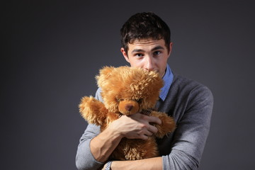 man with bear