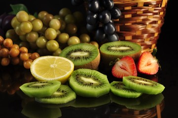 arrangement of fresh fruits