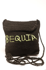 knitted change purse bag souvenir of bequia